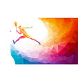 creative silhouette female tennis player vector image vector image
