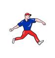 Cricket Bowler Bowling Ball Side vector image vector image
