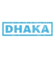 Dhaka Rubber Stamp vector image vector image