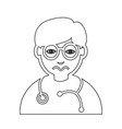 doctor face emotion icon sign design vector image
