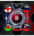 European Flag Buttons B vector image vector image
