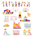 family yard elements collection vector image vector image