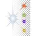 festive multicolored multipath stars set vector image vector image