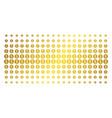 financial seal golden halftone matrix vector image
