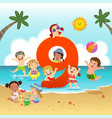 flashcard for learning to counting number 9 vector image vector image