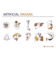 Flat icons - artificial organs 3 vector image vector image