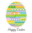 fun patterned easter egg vector image