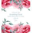 greeting card with spring flowers banner vector image vector image