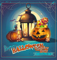 halloween cartoon stylized vector image