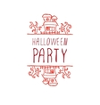 Halloween party - typographic element vector image