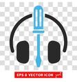 Headphones Tools Eps Icon vector image