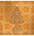 holiday merry year vector image vector image