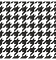 Houndstooth tile black and white pattern vector image