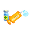 icon syringe vector image vector image