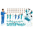isometric constructor a doctor surgeon vector image vector image