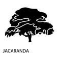 jacaranda icon simple style vector image vector image