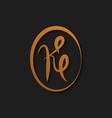 letter k logo design template vector image