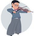 Little boy playing violin vector image vector image