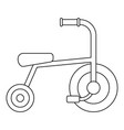 little tricycle icon outline style vector image vector image