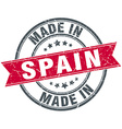 made in Spain red round vintage stamp vector image vector image