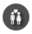 man and woman icon with heart modern flat vector image