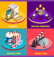 movie time design concept vector image vector image