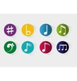 Music notes sound art vector image