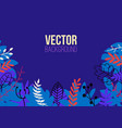 natural horizontal background in trendy flat vector image vector image