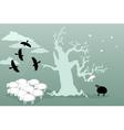 Odd bird and black sheep vector image vector image