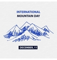 Poster international mountain day December vector image vector image