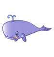 purple whale icon cartoon style vector image