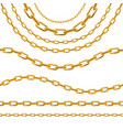 realistic 3d detailed golden chain set vector image vector image