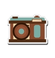 retro photographic camera icon vector image