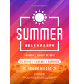 retro summer party design poster or flyer on vector image vector image