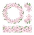 sakura set floral decoration clip art illus vector image vector image