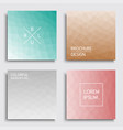set of colorful covers - geometric blur design vector image vector image