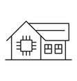smart home icon outline style vector image vector image