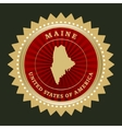 Star label Maine vector image vector image