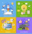 startup design concept vector image