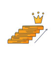 steps up to crown doodle drawn hand with vector image