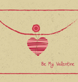 Valentine day letter hearts vector image vector image