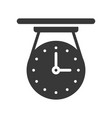 vintage celling clock solid icon pixel perfect vector image vector image