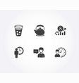 waiting career ladder and teapot icons person vector image