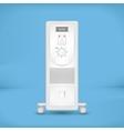 White coastal electric heater vector image