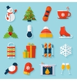 Winter stickers set vector image