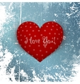 Valentines Day red Heart on Winter Background vector image