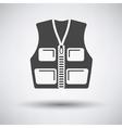 Hunter vest icon vector image