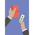 Business hand action concepts vector image