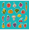 fruit and vegetables set vector image