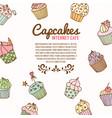 cupcake bakery background vector image